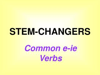 STEM-CHANGERS