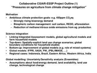 Motivation Ambitious climate protection goals: e.g.  450ppm CO 2 eq