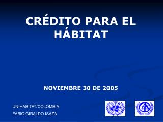 UN-HABITAT/COLOMBIA FABIO GIRALDO ISAZA