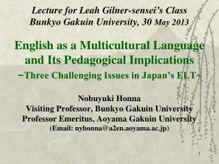 Three Components of English Language Teaching (ELT) for