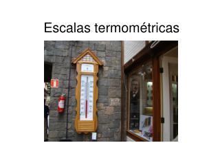 Escalas termométricas