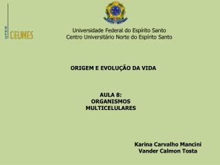 Universidade Federal do Espírito Santo Centro Universitário Norte do Espírito Santo