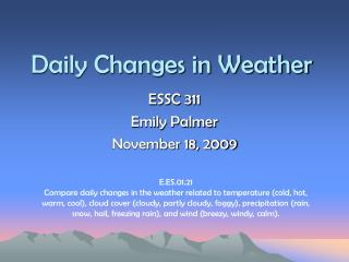 Daily Changes in Weather