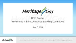 HRM Council Environment & Sustainability Standing Committee July 7, 2011