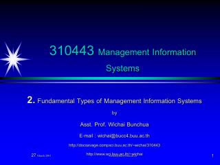 310443 Management Information Systems