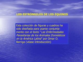 LOS ESTRÓNGILOS DE LOS EQUINOS