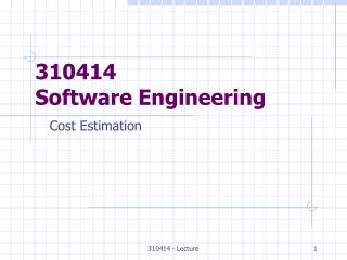 310414 Software Engineering
