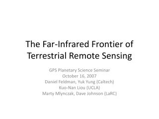 The Far-Infrared Frontier of Terrestrial Remote Sensing