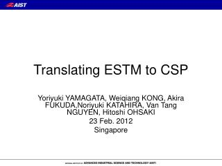 Translating ESTM to CSP