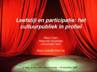 5 e  Dag van de Cultuurcommunicatie – 19 november 2007