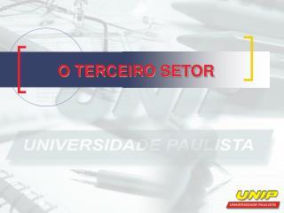 O TERCEIRO SETOR