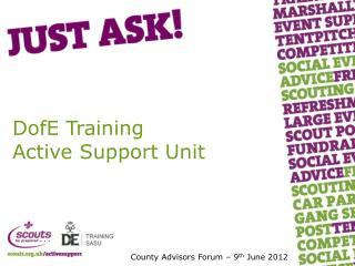 DofE Training Active Support Unit