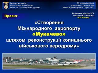 «Створення  Міжнародного  аеропорту  «Мукачево»