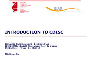 INTRODUCTION TO CDISC