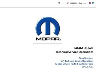 LATAM Update Technical Service Operations