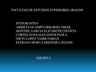 FACULTAD DE ESTUDIOS SUPERIORES ARAGON