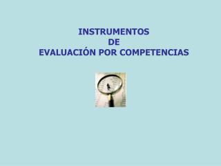 INSTRUMENTOS   DE  EVALUACI�N POR COMPETENCIAS