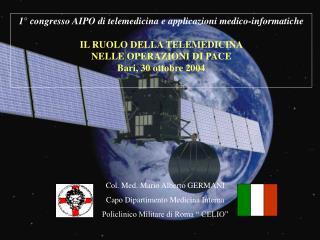 1° congresso AIPO di telemedicina e applicazioni medico-informatiche IL RUOLO DELLA TELEMEDICINA