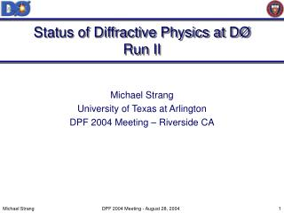 Status of Diffractive Physics at DØ Run II