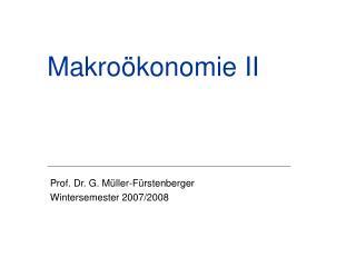Makroökonomie II