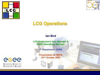LCG Operations