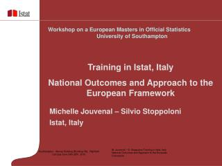 Michelle Jouvenal – Silvio Stoppoloni Istat, Italy