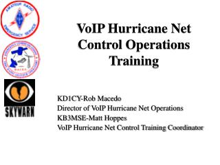 VoIP Hurricane Net Control Operations Training