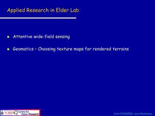 Applied Research in Elder Lab