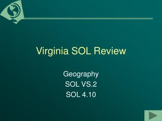 Virginia SOL Review