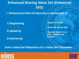 Enhanced Sharing Value Set (Enhanced SVS)