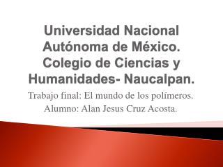 Universidad Nacional Autónoma de México. Colegio de Ciencias y Humanidades- Naucalpan.