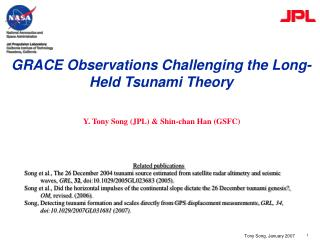 GRACE Observations Challenging the Long-Held Tsunami Theory