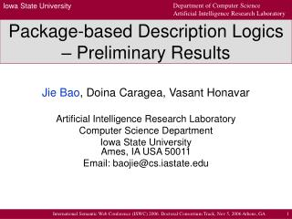 Package-based Description Logics – Preliminary Results