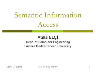 Semantic Information Access