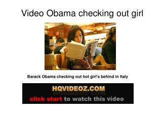 obama checking out girl
