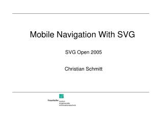 Mobile Navigation With SVG