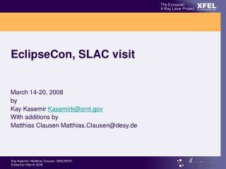 EclipseCon, SLAC visit