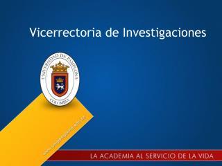 Vicerrectoria de Investigaciones