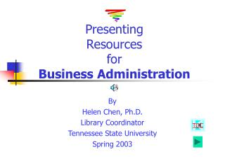 Presenting  Resources  for  Business Administration