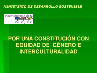 MINISTERIO DE DESARROLLO SOSTENIBLE