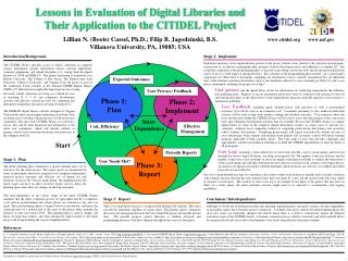 Lessons in Evaluation of Digital Libraries and  Their Application to the CITIDEL Project