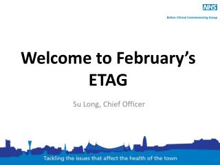 Welcome to February's ETAG