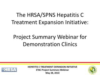 ONGOING HCV/HIV RESOURCES
