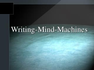 Writing-Mind-Machines
