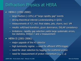 Diffraction Physics at HERA