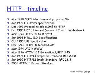 HTTP - timeline