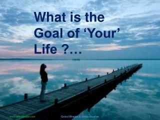 What is the Goal of 'Your' Life ?…