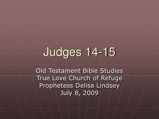 Judges 14-15