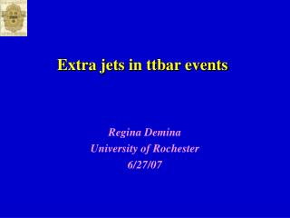 Extra jets in ttbar events