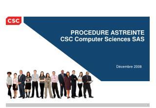 PROCEDURE ASTREINTE CSC Computer Sciences SAS